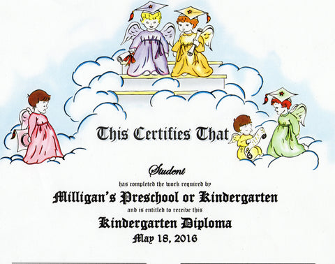 kindergarten diploma 22 milligan s graduation supplies