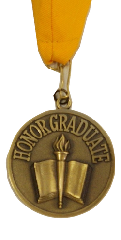 Honor Medallion With Gold Neck Ribbon