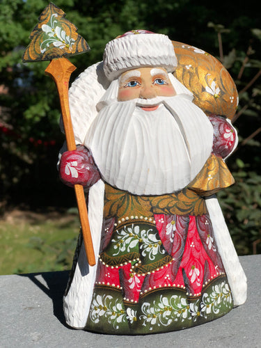 Traditional painted santa