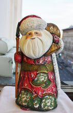 Exquisite carved, painted Santa