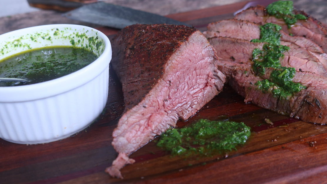 Argentine Tri Tip with Chimichurri Sauce