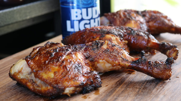 Beer & Honey-Glazed Chicken Quarters