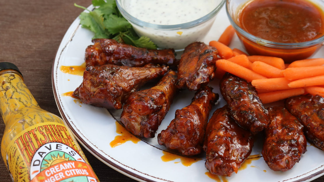 Citrus-Ginger Vodka Chicken Wings