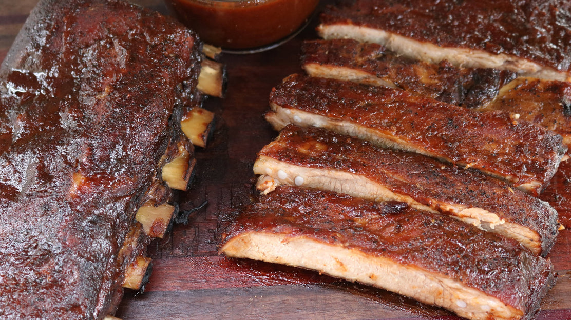 Smoked St Louis Ribs with Cola-Glaze