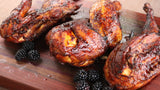 Pecan-Smoked Chicken with Blackberry-Jalapeno Glaze