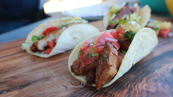 Pork Belly Tacos with Pineapple Salsa