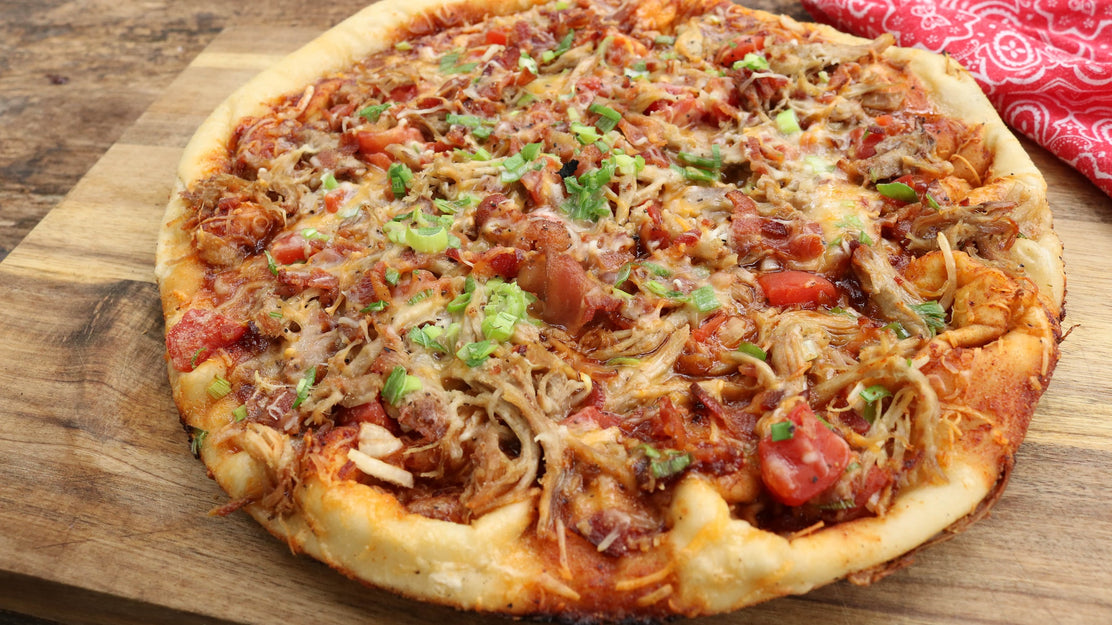 Pulled Pork Pizza on a Kamado Grill