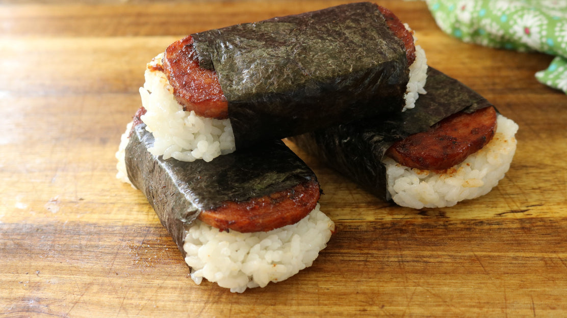 Grilled SPAM Musubi Recipe Prepared 2 Different Ways - Traditional and BBQ Ghost Pepper