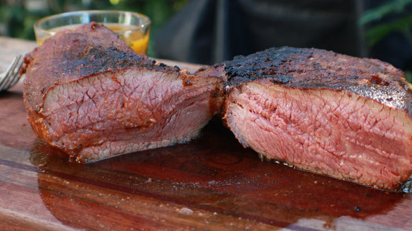 Smoked Mexican Spice-Rubbed Tri Tip with Lemon-Herb Sauce