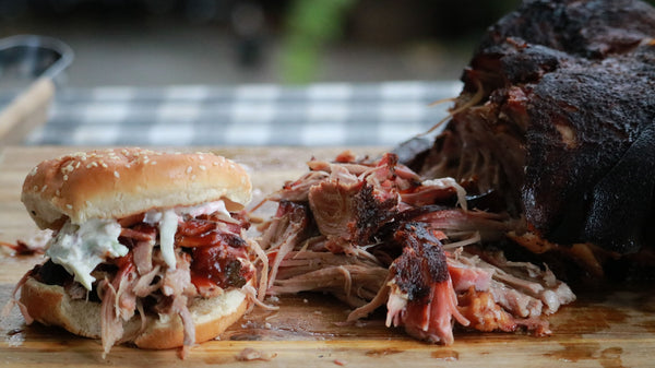 Apple-Juice Brined Pulled Pork with Homemade Coleslaw