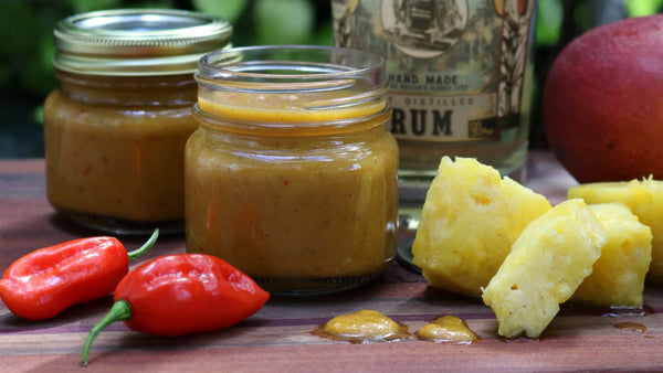 Pineapple-Mango Rum Ghost Pepper Hot Sauce Recipe
