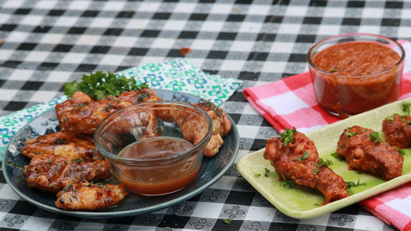 Chicken Wings 2 Ways | Caribbean Gold and Jalapeno Parmesan Chicken Wings