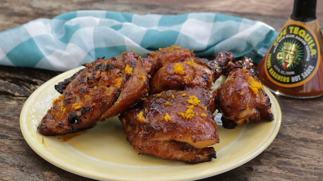 Grilled Spicy Ginger and Honey-Orange Chicken