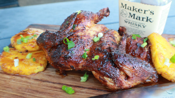 Pineapple-Bourbon Glazed Chicken