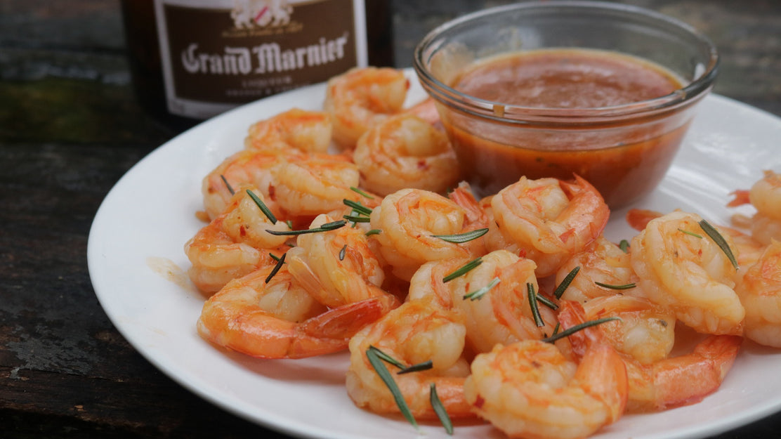 Thai Sweet Chili & Sriracha Shrimp with Grand Marnier Dipping Sauce