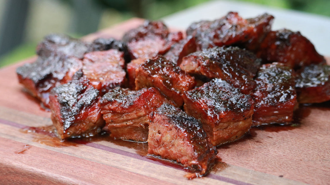 Brisket Burnt Ends and Smoked Brisket