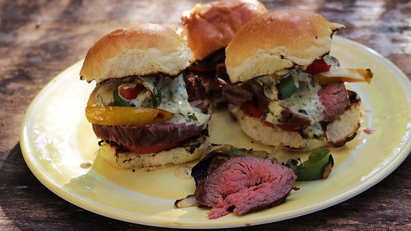 Steak Sliders with Whiskey Horseradish Sauce