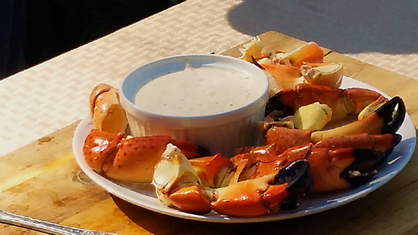 Florida Stone Crab Claws with Mustard Sauce