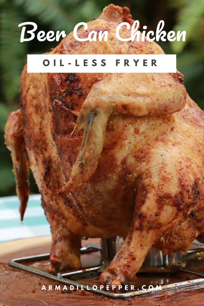 Beer Can Chicken in Big Easy Oil-Less Fryer