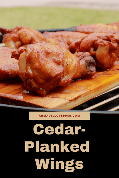 Cedar Planked Chicken Wings with Strawberry-Ghost Pepper Sauce