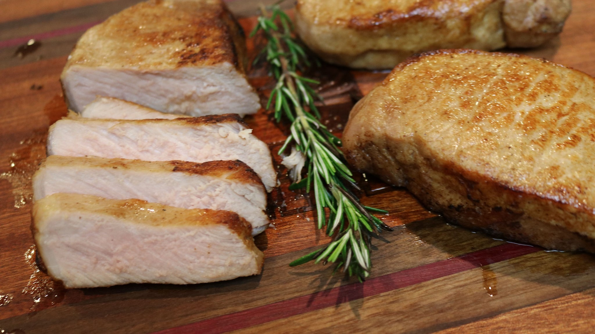 Cherry-Rubbed Sous Vide Pork Chops