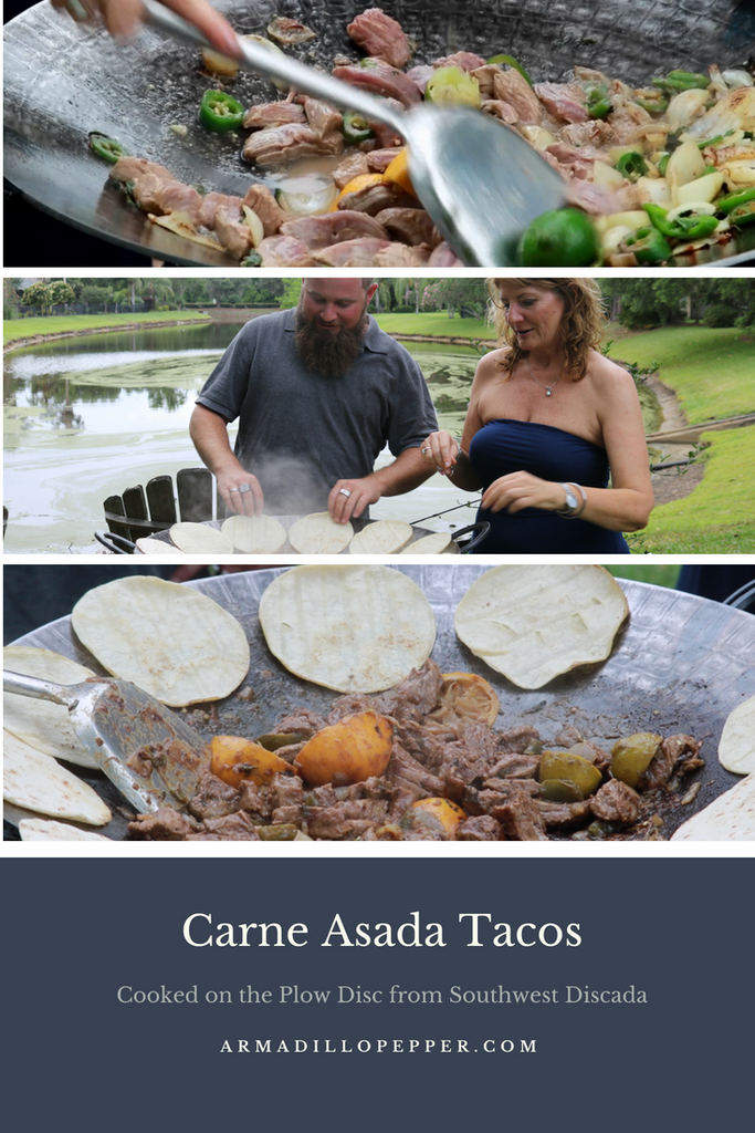 Discada Cooking Carne Asada Tacos On The Plow Disc Armadillo Pepper