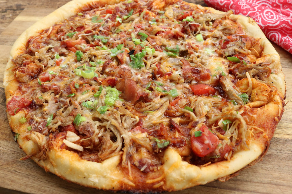 Pulled Pork Pizza on the Grill