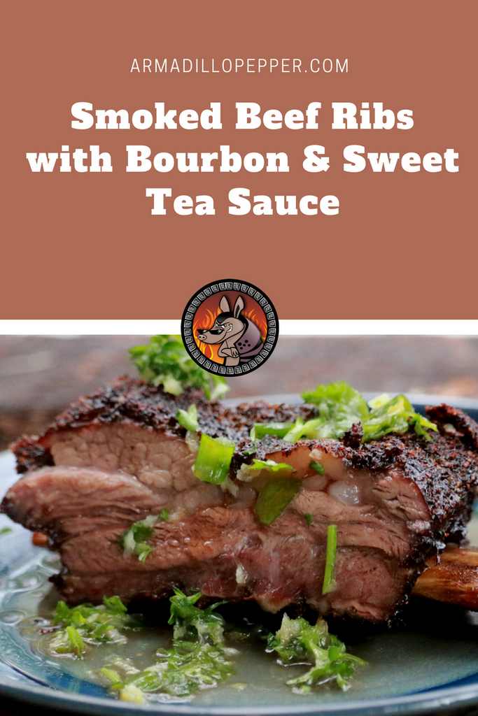 Beef Ribs with Bourbon and Sweet Tea Sauce
