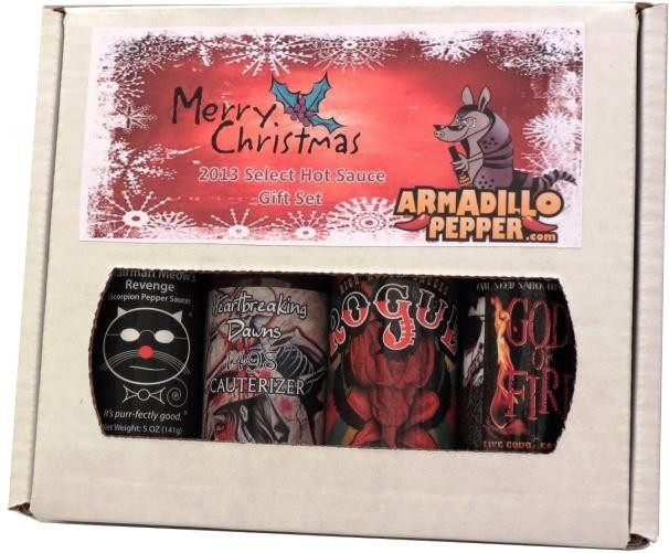 armadillo pepper christmas select hot sauce gift