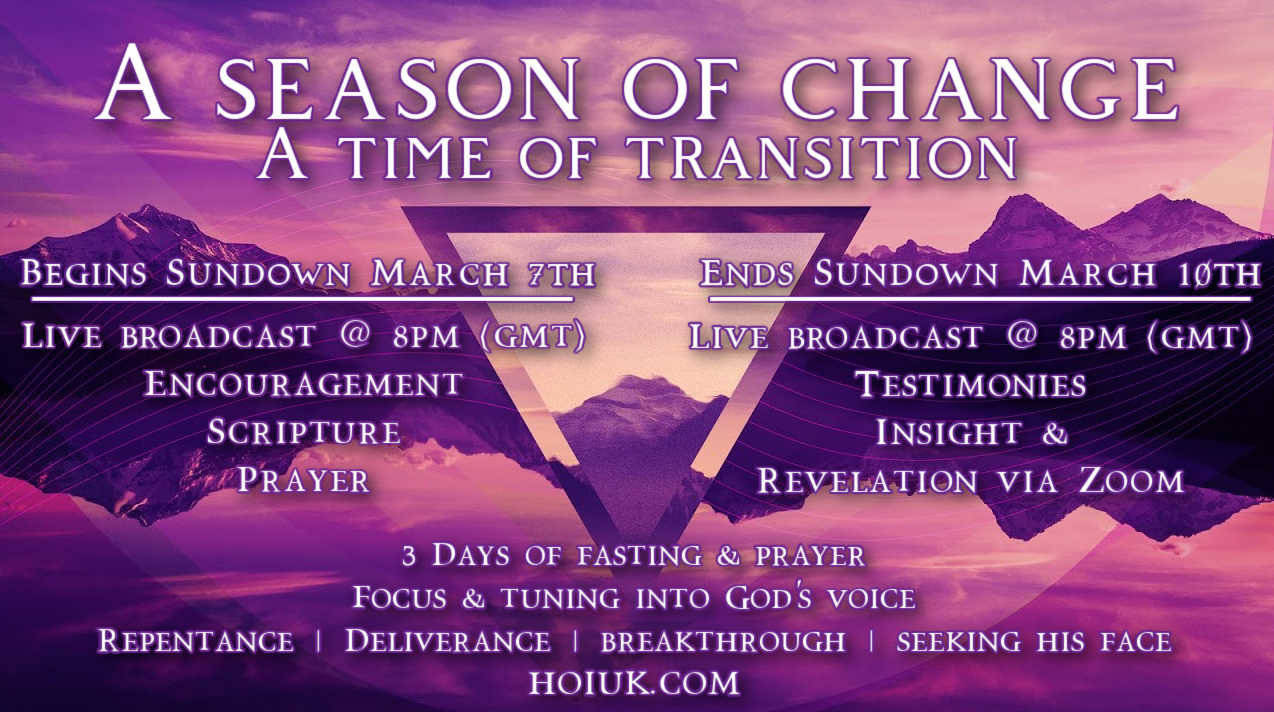 A Season of Change - A Time of Transition