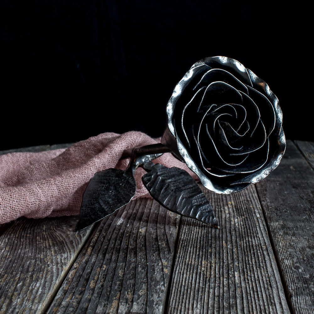 Hand-Forged Rose