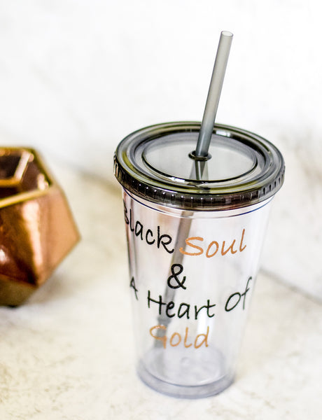 Black Soul & Heart of Gold Tumbler