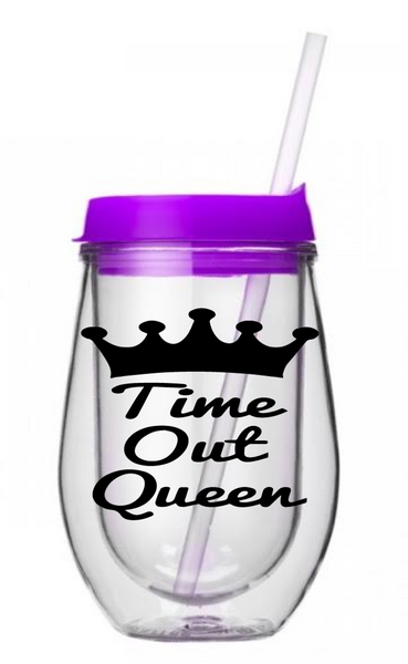 *PRE-ORDER* Time Out Queen Kids Tumbler