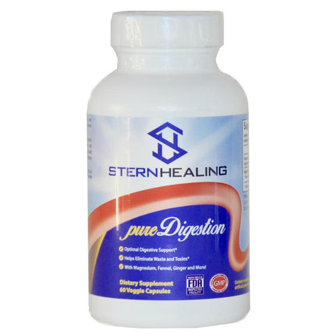 Digestive Support - 1 - Bottle Pure Digestion - Eliminate Bloating Gas Acid