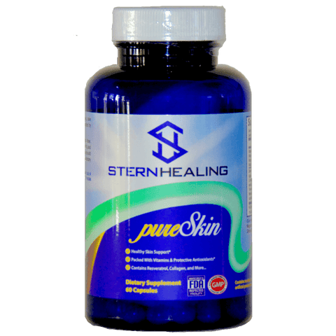 Skin Health Supplement - 1 Bottle - Stern Healing PureSkin - Beauty From Within