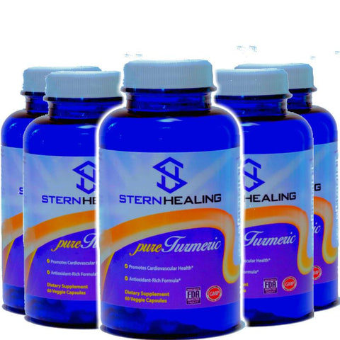 Turmeric Supplement - 5 Bottles Of Stern Healing Ultimate Pure Turmeric