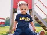 Saucy Kids — Black Baby/Toddler T-Shirt