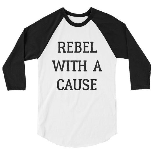 Rebel with a Cause 3/4 Sleeve Raglan Tee - Brown Bear Co.