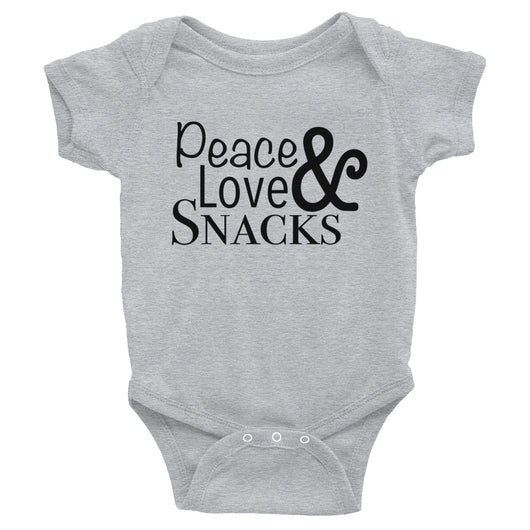 Peace & Love & Snacks Bodysuit - Brown Bear Co.