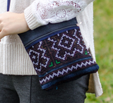 Hmongstudios - Crossbody Bags - Hemp Purse - Flowers