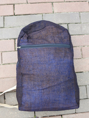 Indigo Hemp Backpack