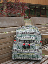 Elephant Print Hemp Backpack