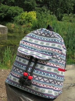 Hmong Print Backpack - Mini