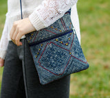 Hmongstudios - Crossbody Bags - Hemp Purse - Grey