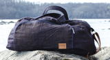 Hmongstudios - Weekender Bags - Navy Weekender Hemp Bag - Dark Purple Pocket