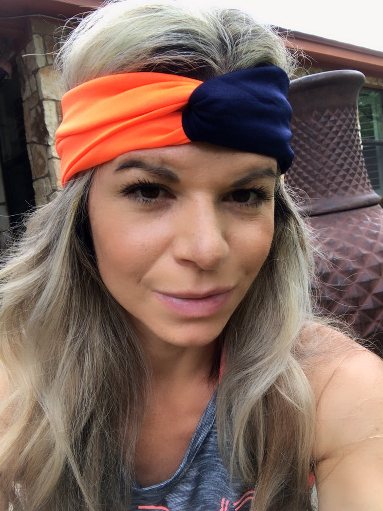 Orange & Navy Blue Active ~ Headband