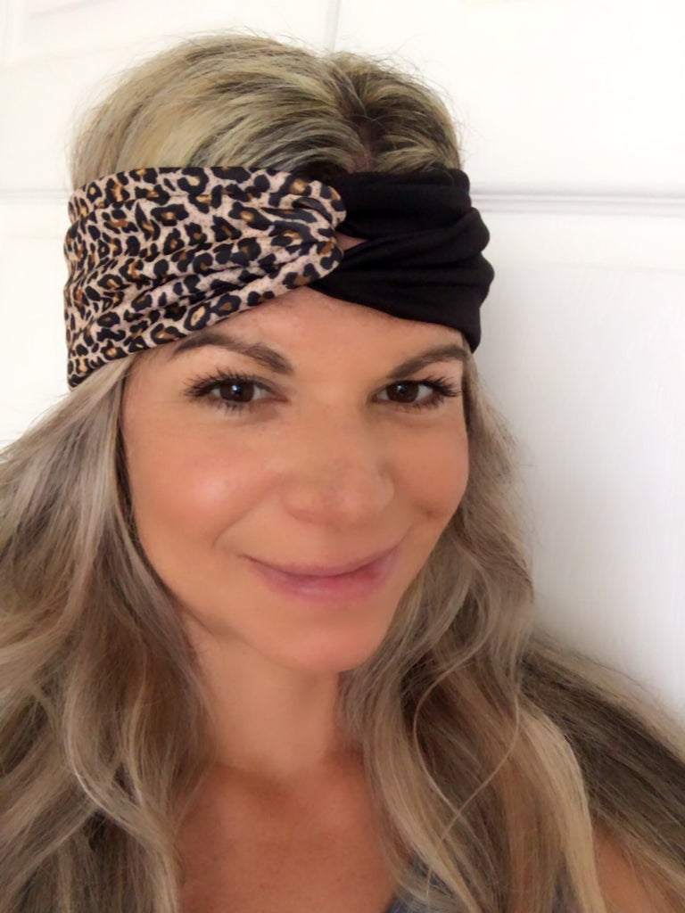 Wild Cat & Black Active ~ Headband