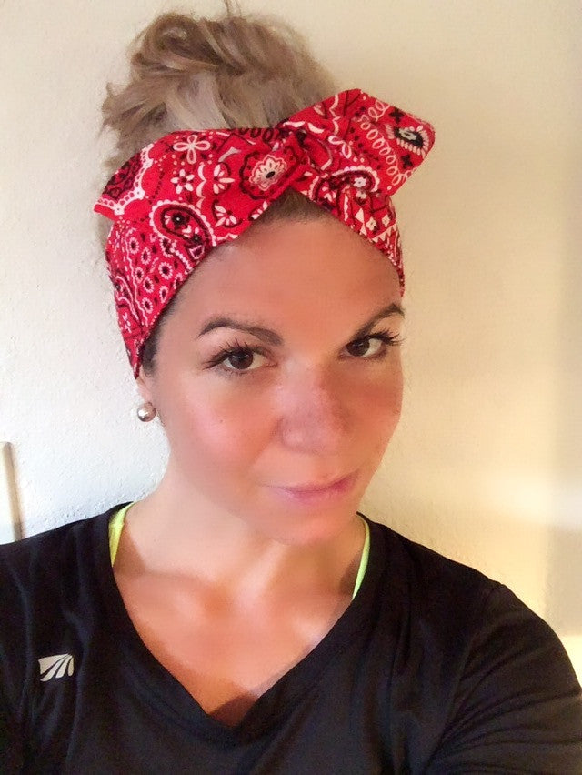 My Red Bandana ~ Headband – Tossy by EM 59f77b66b24