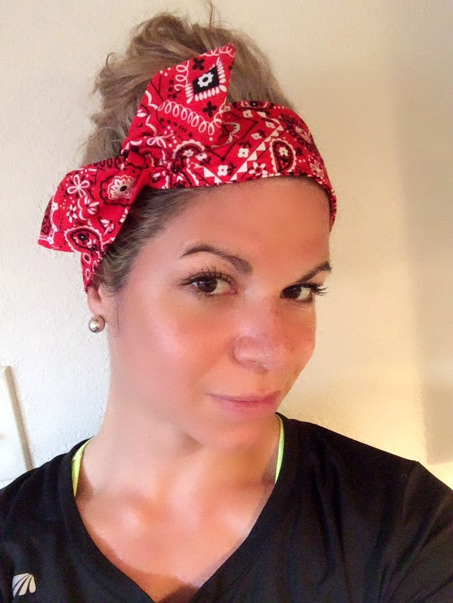 My Red Bandana ~ Headband - Tossy by EM