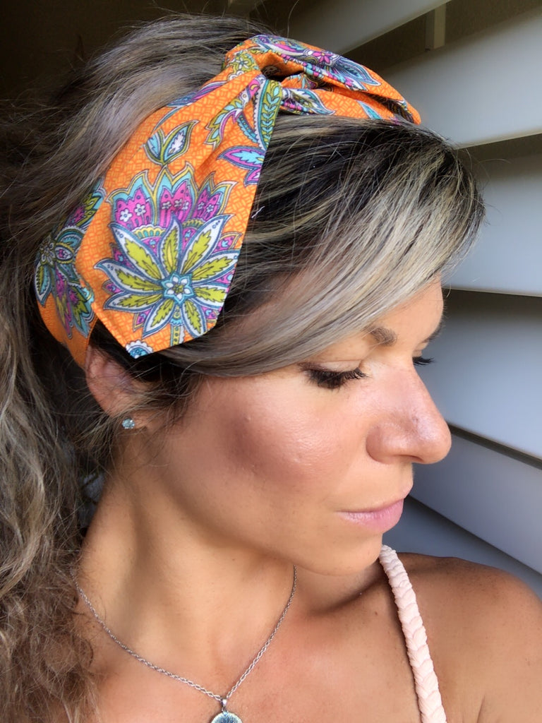 Orange Flower ~ Headband